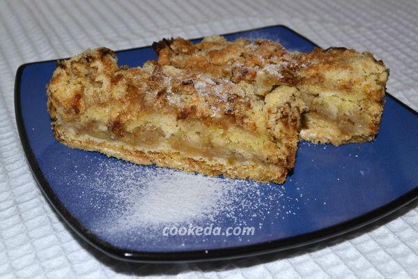 Насыпной пирог с яблоками - рецепт