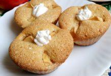 бисквитный кекс с яблоками - пошаговый рецепт